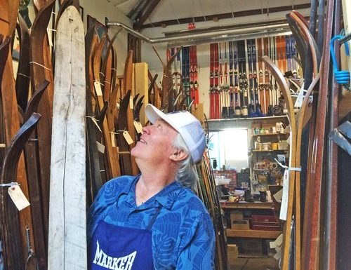 Richard  Allen and his ski collection