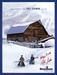 steamboat springs happy trails poster