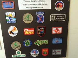 vintage ski patch collection