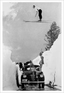 Babes Ands Ski Jumper Vintage Ski Poster