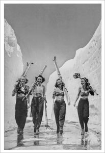 Babes, Sun, Snow - Girls Gone Skiing Poster