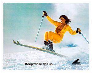 Keep Those Tips Up Lange Vintage Ski Poster