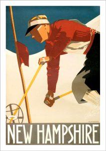 New Hampshire Vintage Ski Poster
