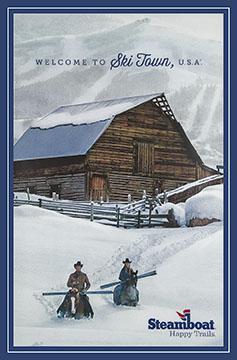 Steamboat Barn Happy Trails Vintage Ski Posters