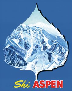 Aspen Ski Leaf Poster